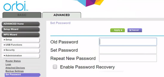 Forgot Orbi Admin Login Password