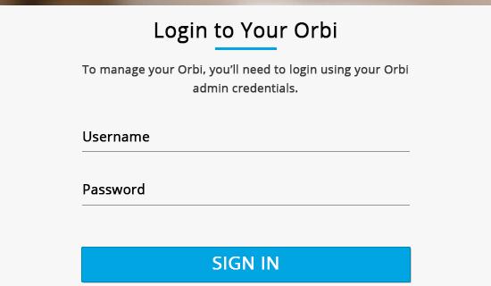 Orbi login